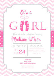 Baby Shower Invitations Cards Designs Ballerina Baby Shower Invitations Theruntime Com