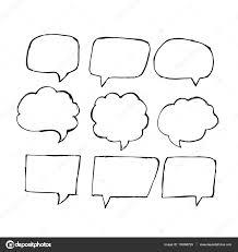 speech bubble hand drawn speech bubble set u2014 stock vector porjai 150896728