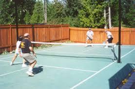 Backyard Tennis Court Cost Building Your Pickleball Court