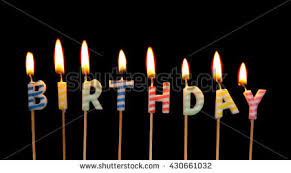 birthday candles black background stock images royalty free