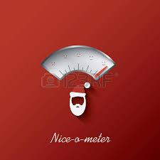 christmas card with nice o meter with nice or naughty gauge