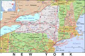 Map New York State Map Of New York State And Pennsylvania New York Map