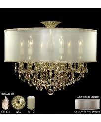 Semi Flush Mount American Brass And Crystal Fm6521 Llydia 24 Inch Wide Semi Flush