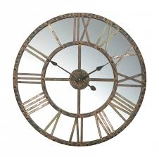 Large Mirrored Wall Clock Amazing Large Mirror Clock For Wall Mirrored Wall Clocks Large