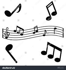 jpeg illustration musical notes waving scale stock illustration