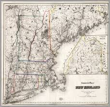 Map Of New England by Commercial Map Of New England David Rumsey Historical Map Collection