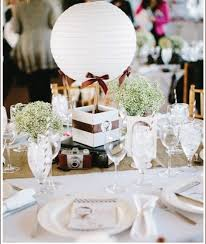 hot air balloon centerpiece our favorite things wedding hot air balloon centerpiece