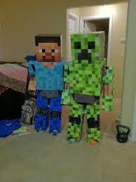 Craft Halloween Costumes Minecraft Steve Costume Homemade Costumes Halloween Costumes