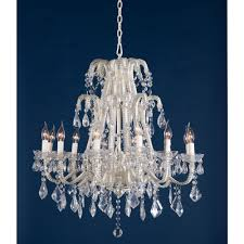 Cream Chandelier Lights Marie Therese Cream Large Glass French 12 Light Chandelier
