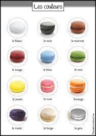 Couleurs En Anglais Francais Les Couleurs Macarons Macarons Learning And Language