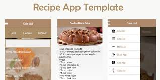 recipe app android template food app templates for android