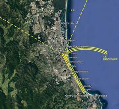 Flight Path Map Instrument Landing System For Gold Coast Airport Airservices