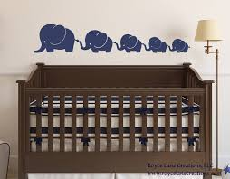 Elephant Wall Decals Nursery by Elephant Family 5 Elephants Decal Nursery Elephant Wall Decal
