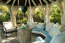 Outdoor Gazebo With Curtains Fancy Curtains For Gazebo Decorating With White Gazebo Curtains