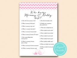 who knows baby shower who knows and best coed baby shower pink