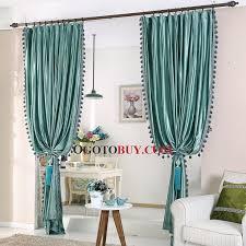 Turquoise Velvet Curtains Green Patterned Jacquard Velvet Luxury Custom Thermal Curtains