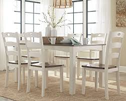 dining room table set amazon com woodanville d335 425 7 dining room table