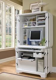 secretary desk computer armoire white modern computer armoire with accessories furniture