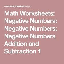25 beste ideeën over negative numbers worksheet op pinterest