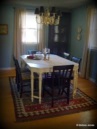 Painted Dining Table by Homemade Chalk Paint A Dining Table Makeover Home Baked