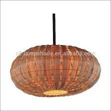 Woven Pendant Light Pumpkin Shape Rattan Woven Pendant Light Shade Buy