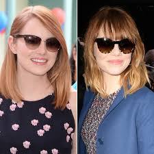 haircut alert do you dig emma stone u0027s new bangs emma stone