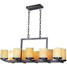 maxim lighting luminous 10 light rustic ebony chandelier 21149scre