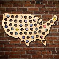 Map Uf Usa by Beer Cap Map Of Usa Medium