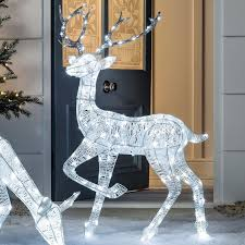 Outdoor Reindeer Decorations Best Outdoor Christmas Lights U0026 Decorations Christmas