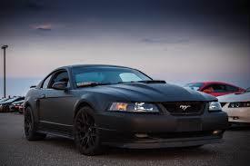 Mustang Matte Black My 03 Matte Black Mach 1 Mustang