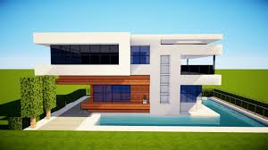 minecraft how to build a small modern house tutorial 2017 youtube