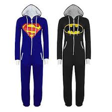 batman superman kigurumi pajamas sleepwear unisex costume ebay