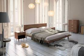 King Size Bed Frame For Sale Vancouver Bc Asher Bed Mid Century Modern Bed Rove Concepts