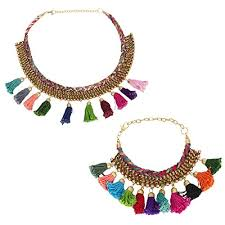 designer handmade jewellery the indian handicraft store pompom necklace bracelet set designer
