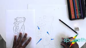cartoon tree frog drawing for kids sparketh