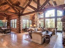 interior log homes the open space of this cabin in my dreams