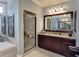 Wood Framed Bathroom Mirrors by Framed Bathroom Mirror With Regard To Framed Bathroom Mirrors