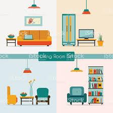 vector image of living room furniture stock vector art 469835102