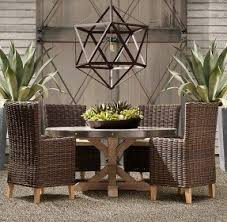 Outdoor Dining Room Furniture Large Round Outdoor Dining Table Foter