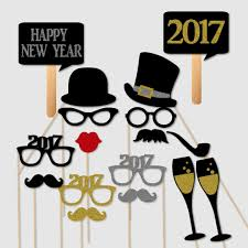 Photo Booth Prop New Years Eve Party 2017 Day Photobooth Prop Set U2013 Paper Gala