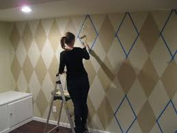 painting a wall how to paint a diamond pattern on your wall maison d u0027or interior