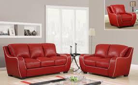 global furniture bonded leather sofa u8080 sofa in red bonded leather by global furniture usa
