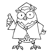 graduation owl coloring pages virtren com