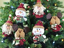 plush hanging ornament sets in country