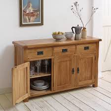 original rustic solid oak large sideboard sideboards dining