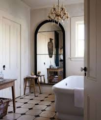 white arched mirror foter