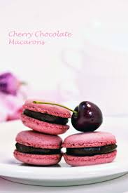 cherry chocolate macarons suzie sweet tooth desserts