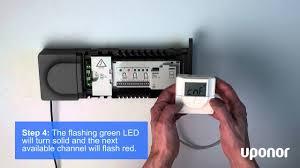 uponor smatrix digital thermostat registration process for t 146