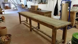 Plan De Table En Bois by Table Plan De Travail Bois Indogate Com Cuisine Rouge Plan De