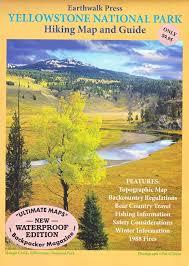 Yellowstone Park Map Yellowstone National Park Hiking Map Earthwalk Press Leo Larson